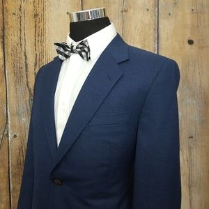 Canali Sport Coat Mens 42R Wool Blue Made in Italy
